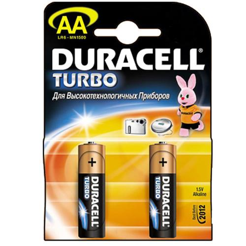 Батарея Duracell Turbo АА (MN1500) 2шт
