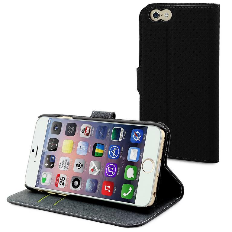 Сумка-книжка Muvit Wallet Folio Stand Case iPhone 6 Plus черный