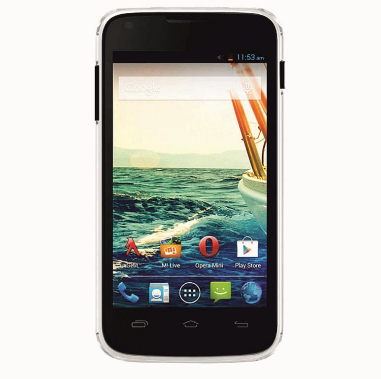 Сотовый телефон Micromax A092 Canvas QUAD Black+White shell