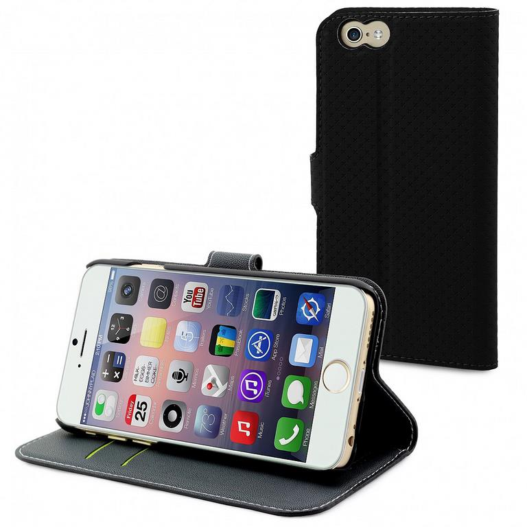 Сумка-книжка Muvit Wallet Folio Stand Case iPhone 6 черный