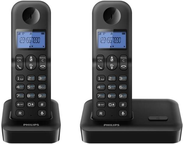Радиотелефон Philips D1502 Black