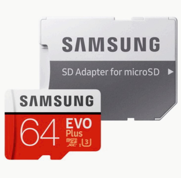 Карта памяти Samsung EVO Plus Micro SD 64 Gb (MB-MC64GA/RU)