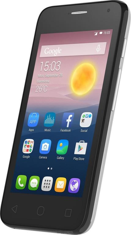 Сотовый телефон Alcatel OT4024D PIXI FIRST Metallic Silver