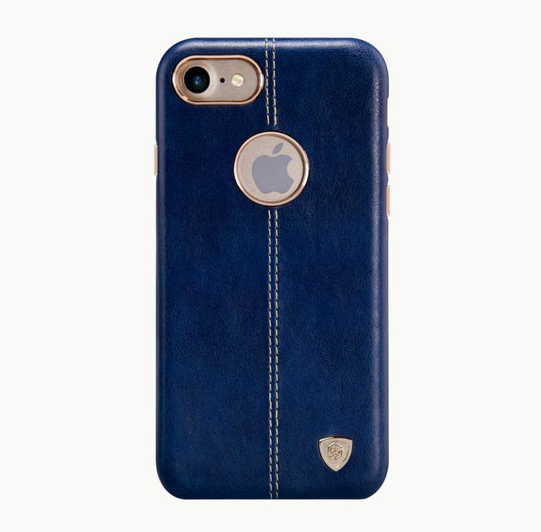 Накладка Nillkin Englon leather Cover  iPhone 7 синяя